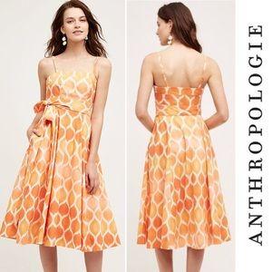 🌸NWOT ANTHRO Freya Poplin Dress Maeve Strapless